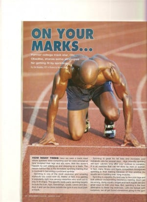 Quotes for Track Sprinters