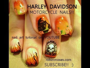 HARLEY DAVIDSON NAIL ART