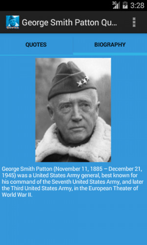 George Smith Patton Quotes - screenshot