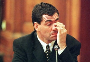 Hansie Cronje during his cross-examination at the King Commission of ...
