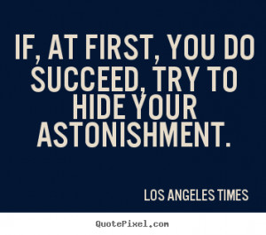 Los Angeles Times Success Quote Canvas Art