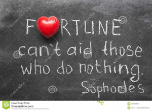 Famous Ancient Greek philosopher Sophocles quote about fortune and ...