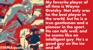 GSP on Wayne Gretzky being his favorite hockey player
