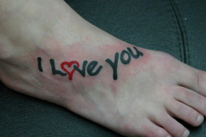 Love You In A Different Way Tattoo