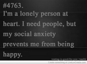 Social Anxiety Quote