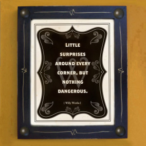 Willy Wonka Quote Art Print Black and White Framed by DexMex, $49.00