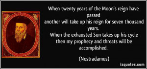 nostradamus quotes