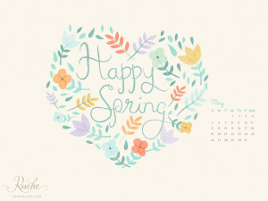 May has arrived! We have another darling calendar to bring spring ...