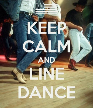 Country Line Dancing Logo Line dance - country music