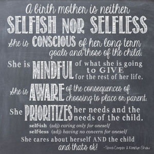 birth and adoptive mother we think this explains why birth mothers ...