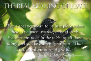 Real Meaning Of Peace - inspirational short Story