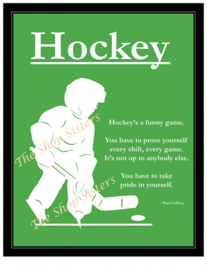 Motivational Hockey Boy Silhouette Green 8 x 10 Print Wall art FREE ...