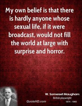 William Somerset Maugham Sex Quotes
