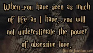 Harry Potter Obsessive Love quote