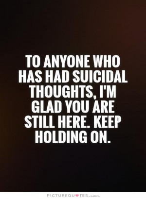 Suicidal Thoughts Quotes