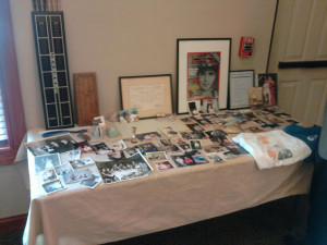 Celebration of life memory table