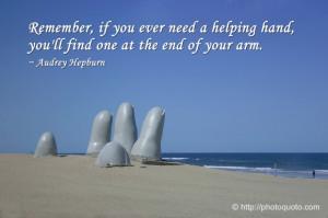 Sayings, Quotes: Audrey Hepburn