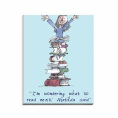 Matilda Magnetic A6 Notepad. Roald Dahl. Quintin Blake. Buy Here: http ...