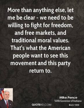 Mike Pence - More than anything else, let me be clear - we need to be ...