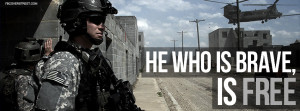 Army Rangers He Who Is Brave Quote Facebook Cover