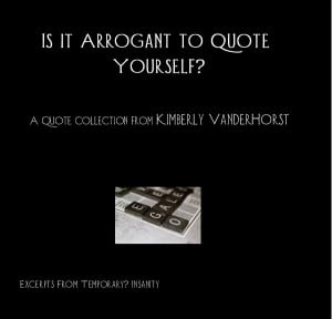 Click to preview Is it Arrogant to Quote Yourself? photo book