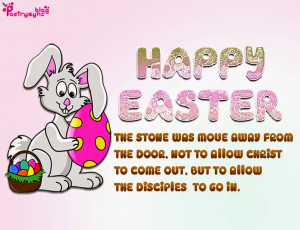 Easter Bunny Quotes Happy easter with bunny and
