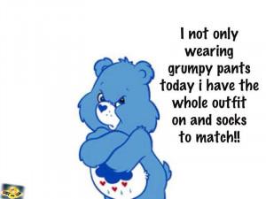 grumpy pants!