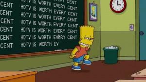 Bart Simpson at the Blackboard (70 pics)