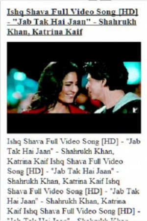 ... application to access the latest videos from jab tak hai jaan movie