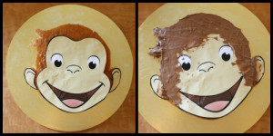 Next, cut around the image and place it on top of your cake. Trim ...