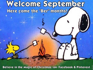 Welcome September! - Snoopy Quote