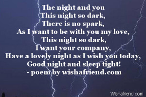Good Night Poems For Her Sleep Tight Love