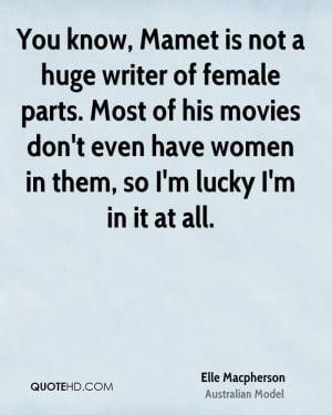 Elle Macpherson Movies Quotes