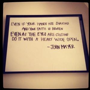 John Mayer, I love you so