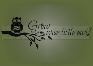 GROW-WISE-OWL-Vinyl-Wall-Saying-Lettering-Art-Quote-Decoration-Decal ...
