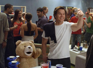 Crass and cuddy: John (Mark Wahlberg) and his foul-mouthed teddy bear ...