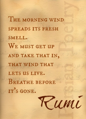 Rumi Quote, Persian Poet