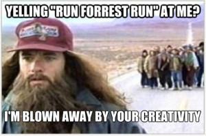Runner Humor:Yelling