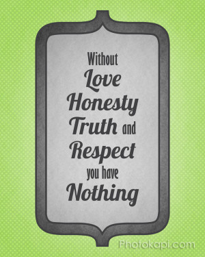Love Honesty Truth And...