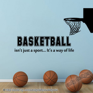Sports Quotes Girls Basketball Basketball wall decal with