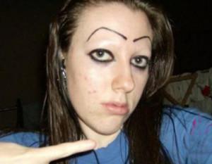 bad eyebrows, worst eyebrows, funny eyebrows, bad makeup, ugly ...