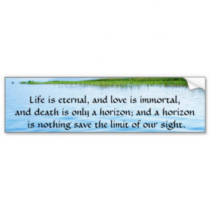 Poem About Death - Inspirational Grieving Quote Car Bumper Sticker
