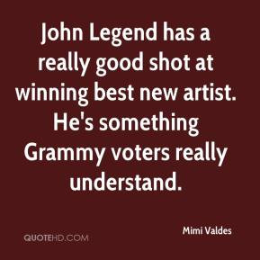 Mimi Valdes - John Legend has a really good shot at winning best new ...