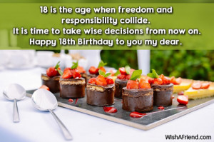 Today Is My 18 Birthday Quotes Happy 18th birthday to you my
