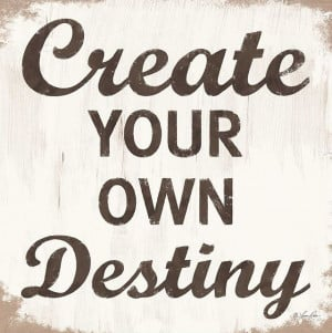 Create Your Own Destiny' Wrapped Canvas