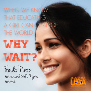 When we know that educating a girl can change the world, why wait?