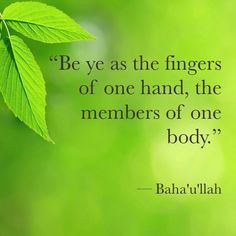 ... ye as the fingers of one hand, the members of one body.