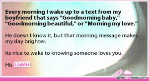 related to cute quotes for your boyfriend to wake up to my love