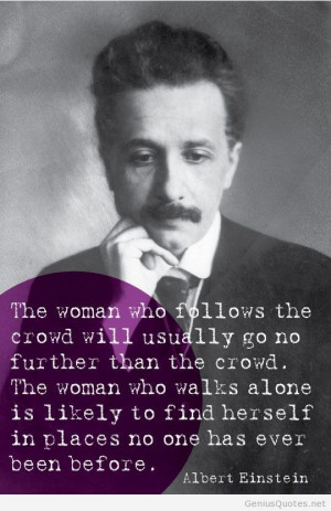 Albert Einstein about woman quote