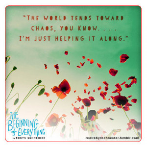 Robyn Schneider's The Beginning of Everything is a lyrical, witty, and ...